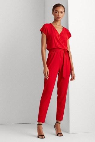 Lauren Ralph Lauren Red Dempsey Jumpsuit