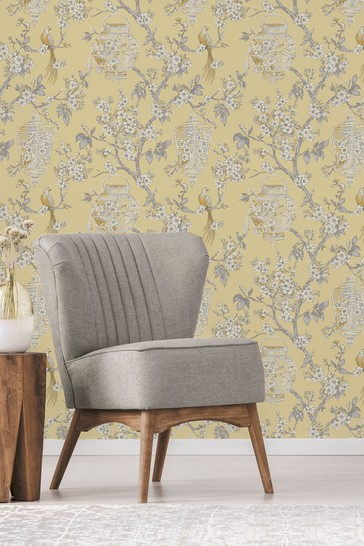 Exclusive To Next Japanese Chinoise Floral Wallpaper by Vymura London