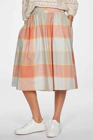 Thought Orange Alexa Full Check Skirt