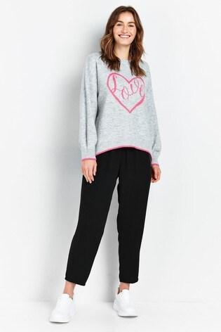 Wallis Grey Heart Love Jumper