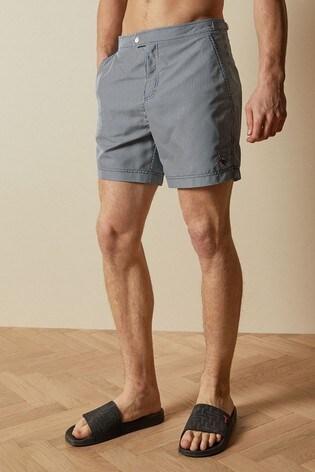 Ted Baker Blue Geswork Formal Stripe Swim Shorts