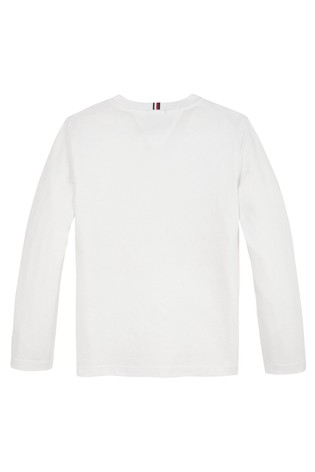 Tommy Hilfiger White Essential Long Sleeve T-Shirt