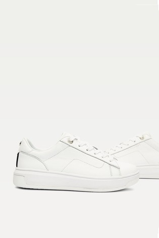 Buy Tommy Hilfiger White Leather Flag