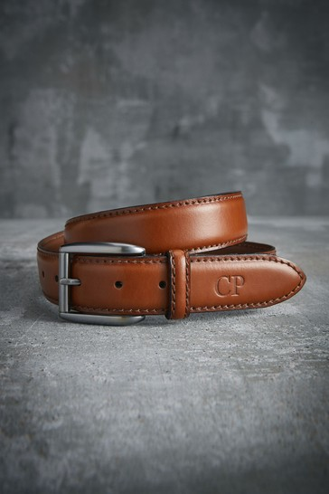 Personalised Signature Tan Belt