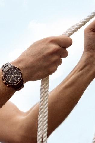Bulova Marine Star Chronograph Black Ion Plate Bracelet Watch