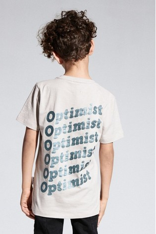 Sometime Soon White Graphic T-Shirt