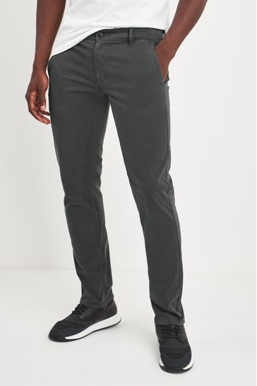 BOSS Grey Schino Slim Flit Chinos