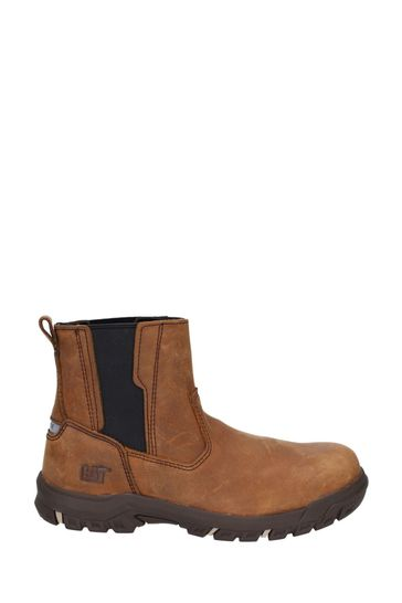 CAT® Brown Abbey Slip-On Safety Boots