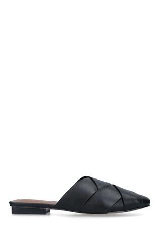 Kurt Geiger London Black Pippa Leather Slip-On Flats