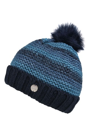 Regatta Blue Frosty IV Pom Pom Hat