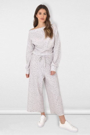 Ro&Zo Grey Speckle Slouchy Jumpsuit