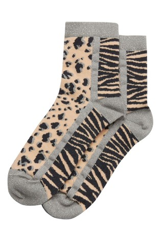 Oliver Bonas Animal Mix Pink Socks