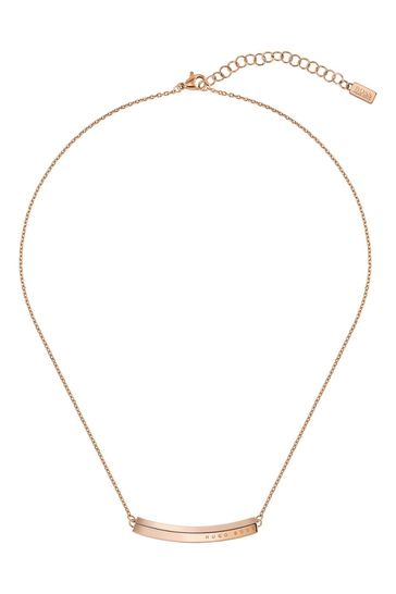 BOSS Insignia Carnation Gold Necklace
