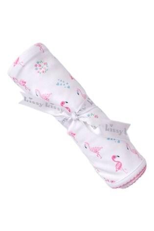 Kissy Kissy Pink Flamingo Blanket