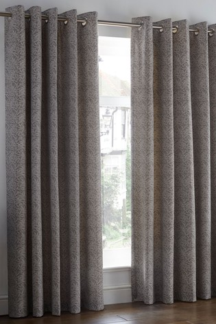 Hanworth Leaf Eyelet Lined Curtains by D&D