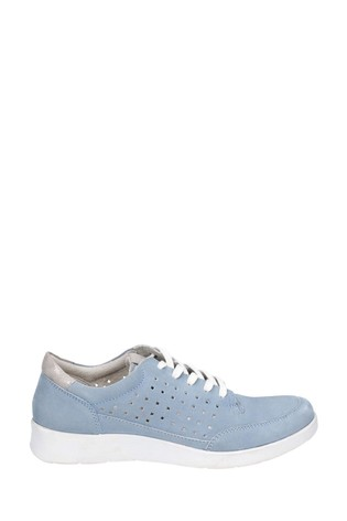 Hush Puppies Blue Molly Lace-Up Shoes