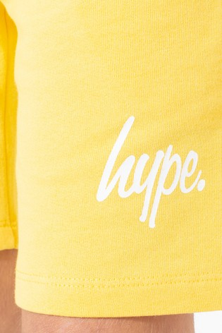 Hype. Yellow Script Kids Shorts