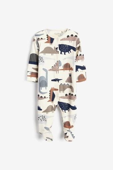 Camouflage 3 Pack Dinosaur Sleepsuits (0mths-2yrs)
