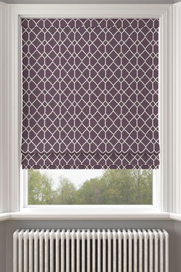 Earle Berry Purple Made To Measure Roman Blind