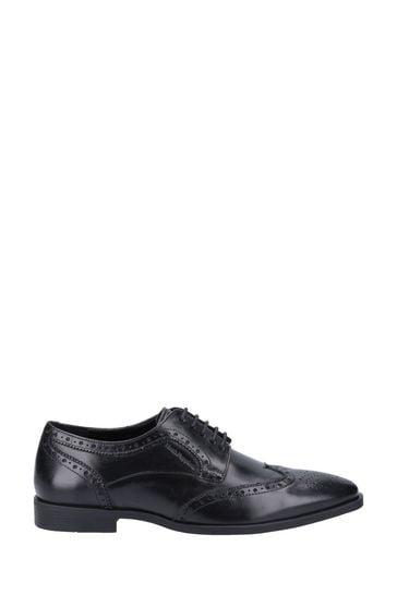Hush Puppies Black Elliot Brogue Lace-Up Shoes