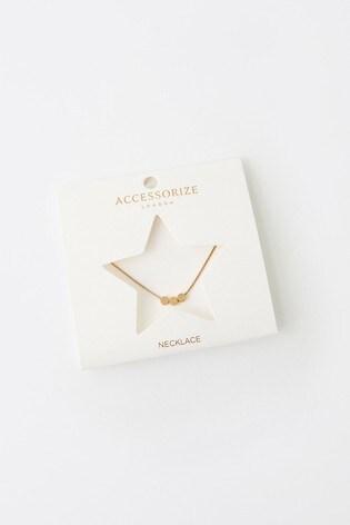 Accessorize Triple Disc Pendant Necklace