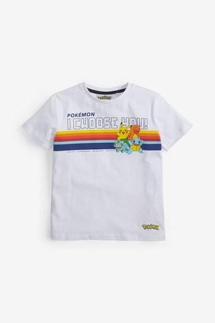 White Pokémon Rainbow T-Shirt (3-14yrs)
