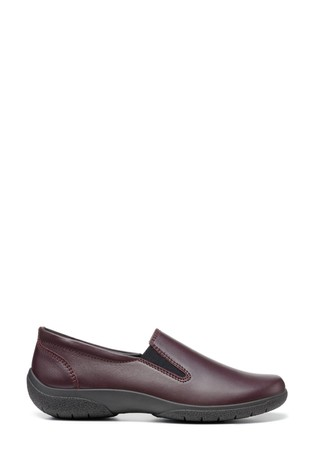Hotter Glove II Red Slim Fit Slip-On Trouser Shoes