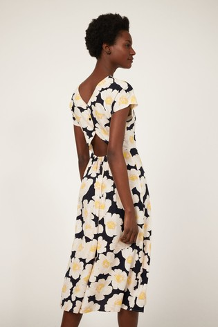 Warehouse Nicky Floral Midi Dress