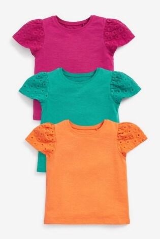 Multi 3 Pack Cotton T-Shirts (3mths-7yrs)