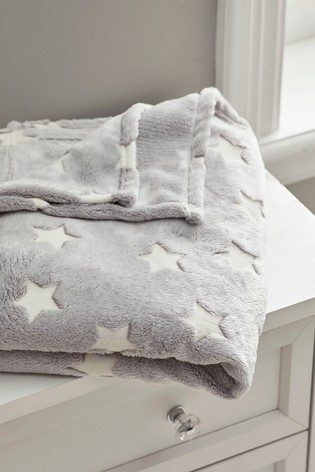 Glow in the Dark Fleece Star Throw