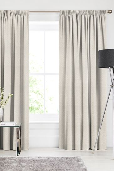 Tamsin Champagne Natural Made To Measure Curtains