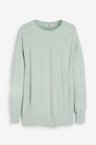 Mint Washed Longline Sweatshirt