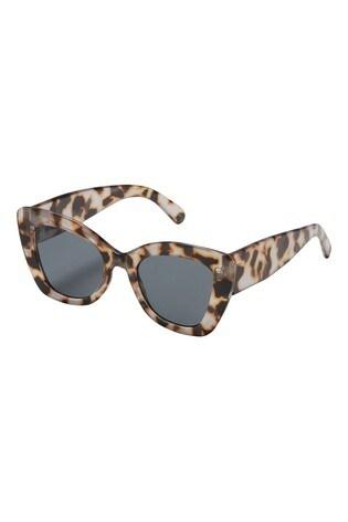 Oliver Bonas Natural Retro Tortoiseshell Effect Sunglasses