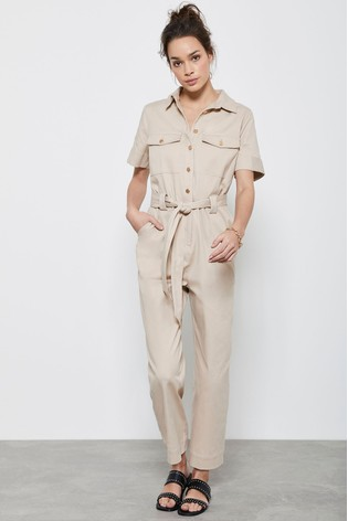 Mint Velvet Button Through Boilersuit