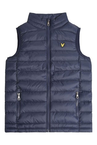 Lyle & Scott Blue Lightweight Gilet