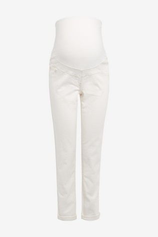 Ecru Maternity Relaxed Skinny Jeans