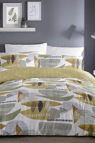 D&D Yellow Saldana Duvet Cover and Pillowcase Set