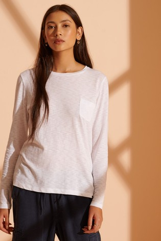 Superdry Organic Cotton Scripted Long Sleeved Crew Top