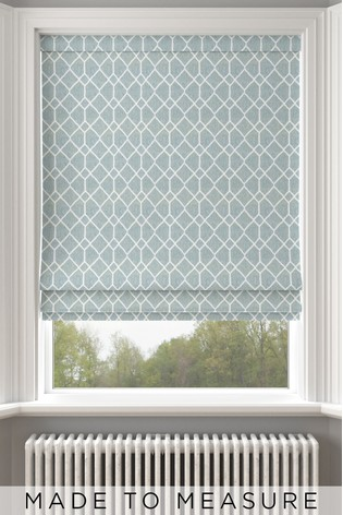 Earle Seafoam Green Made To Measure Roman Blind