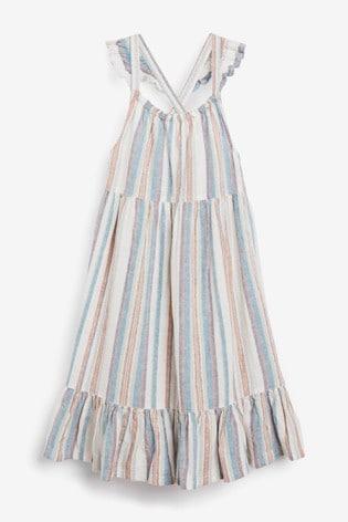 Stripe Linen Frill Dress (3mths-12yrs)