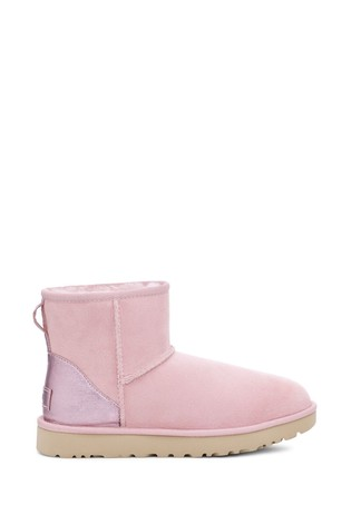 UGG® Classic Mini Metallic Pink Boots