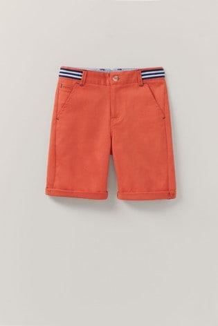 Crew Clothing Red Chino Shorts