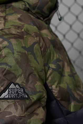 Superdry Radar Quilted Fuji Camo Jacket