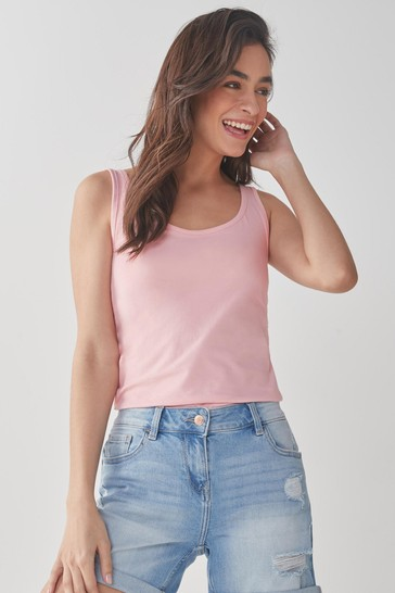 Light Pink Thick Strap Vest