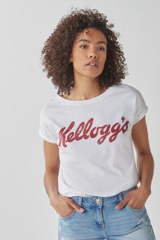 Licence Kellogg's White Curved Hem T-Shirt