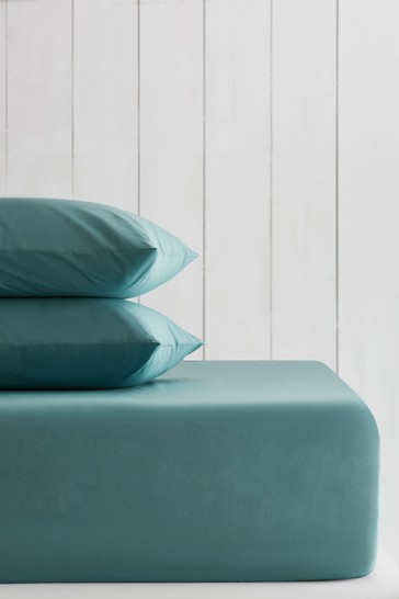 Marine Teal Cotton Rich Deep Fitted Sheet