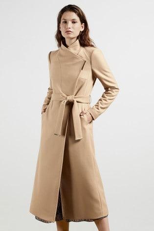 Ted Baker Rosell Long Length Wool Wrap Coat
