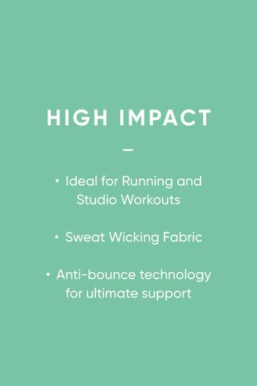 White High Impact Full Cup Wired Sports Bra