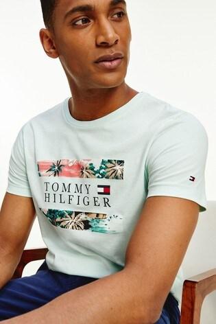Tommy Hilfiger Blue Hawaiian Flag T-Shirt