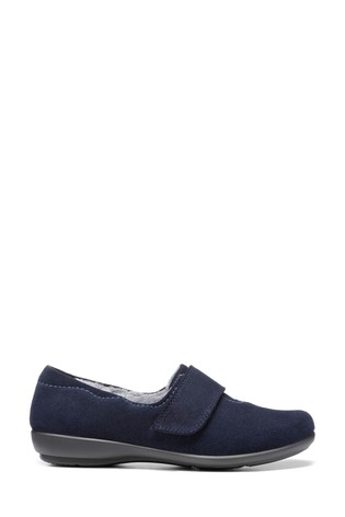 Hotter Blue Toasty Touch Fastening Slippers